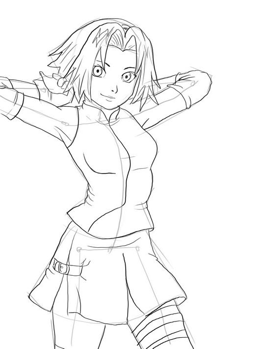 Как нарисовать Сакуру