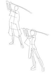 Как-нарисовать-самурая-карандашом-поэтапно-2