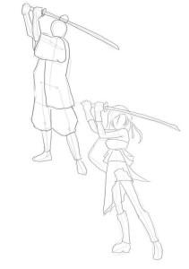 Как-нарисовать-самурая-карандашом-поэтапно-3