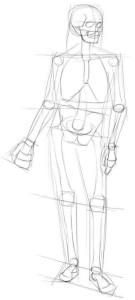 Как-нарисовать-скелет-карандашом-поэтапно-2