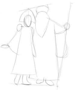 Как-нарисовать-снегурочку-карандашом-1