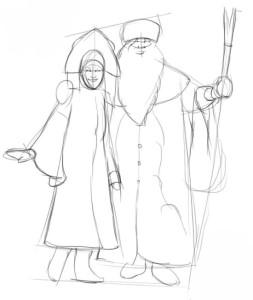Как-нарисовать-снегурочку-карандашом-2