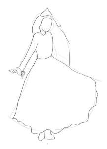 Как-нарисовать-снежную-королеву-карандашом-поэтапно-2