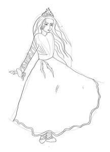 Как-нарисовать-снежную-королеву-карандашом-поэтапно-3