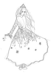 Как-нарисовать-снежную-королеву-карандашом-поэтапно-4
