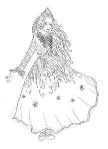 Как-нарисовать-снежную-королеву-карандашом-поэтапно-5