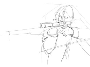 Как-нарисовать-стрелка-карандашом-поэтапно-3