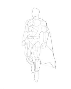 Как-нарисовать-супермена-карандашом-поэтапно-3