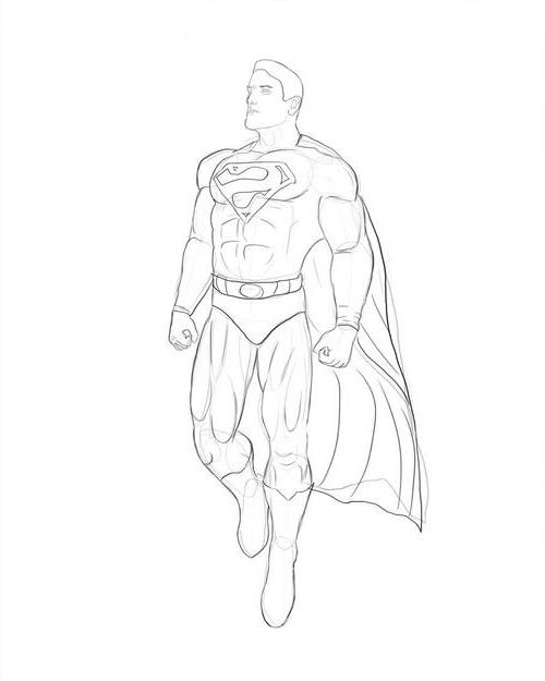 Как нарисовать супермена?