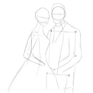 Как-нарисовать-свадьбу-карандашом-поэтапно-2