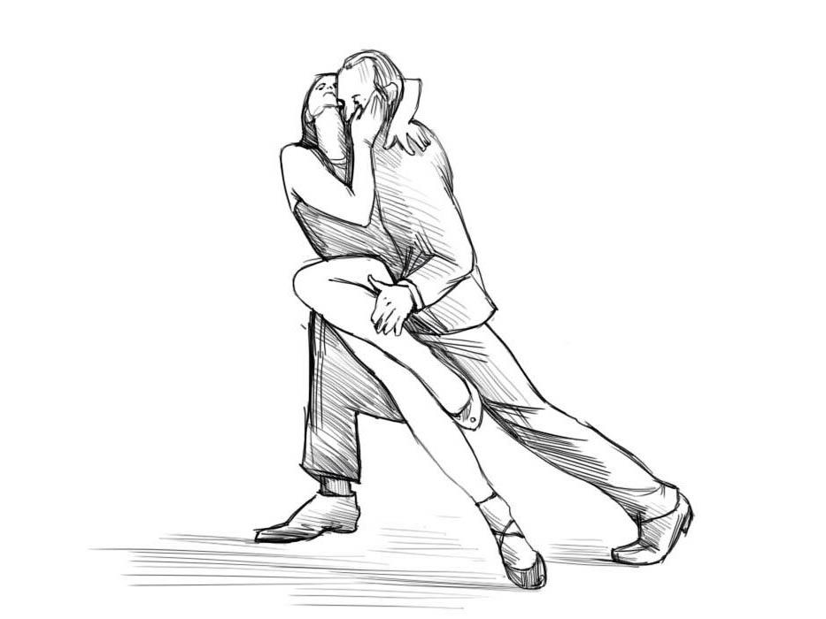 Как нарисовать танец