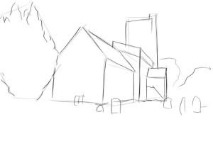 Как-нарисовать-церковь-карандашом-поэтапно-2