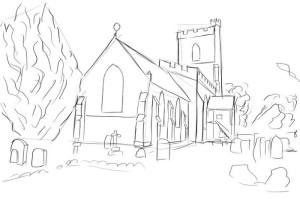 Как-нарисовать-церковь-карандашом-поэтапно-4