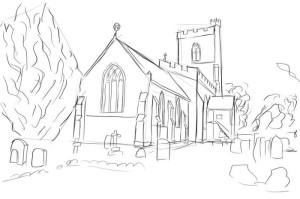 Как-нарисовать-церковь-карандашом-поэтапно-5