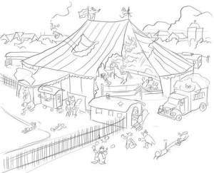 Как-нарисовать-цирк-карандашом-поэтапно-4