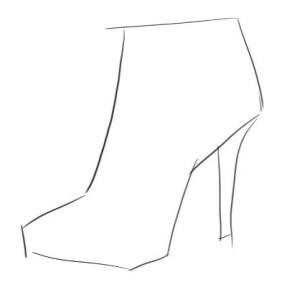 Как-нарисовать-туфли-карандашом-поэтапно-1