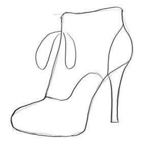 Как-нарисовать-туфли-карандашом-поэтапно-2
