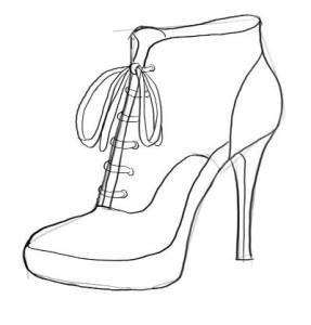 Как-нарисовать-туфли-карандашом-поэтапно-3