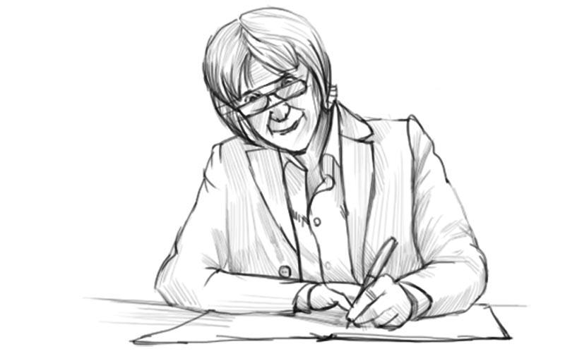 Как нарисовать учителя?