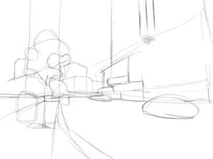 Как-нарисовать-улицу-карандашом-поэтапно-2