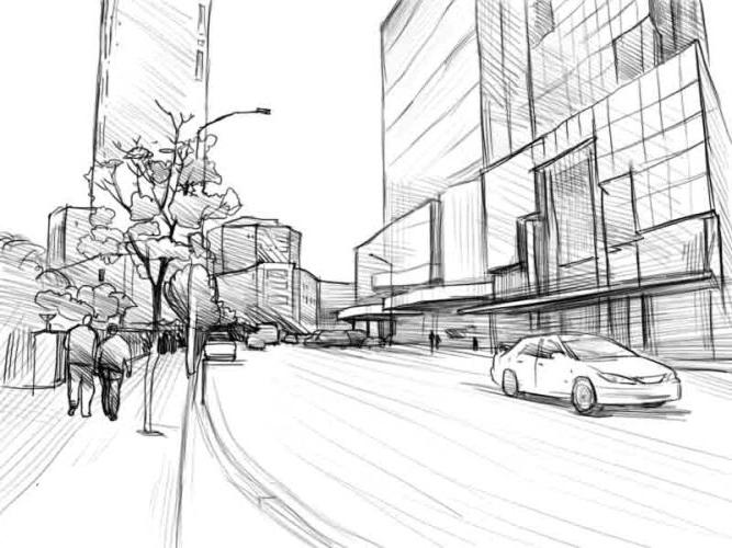 Как нарисовать улицу?