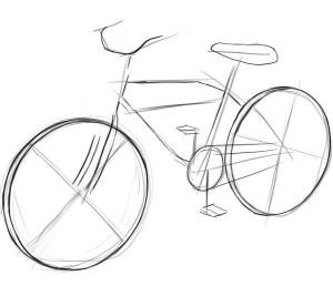 Как-нарисовать-велосипед-карандашом-поэтапно-2