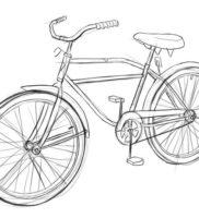 Как нарисовать велосипед