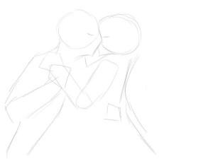 Как-нарисовать-влюбленных-карандашом-поэтапно-1