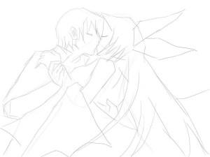 Как-нарисовать-влюбленных-карандашом-поэтапно-2