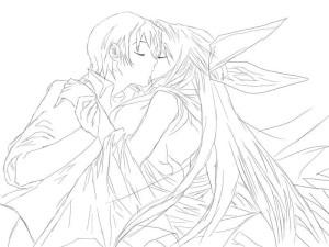 Как-нарисовать-влюбленных-карандашом-поэтапно-3