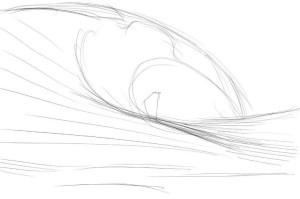 Как-нарисовать-волны-карандашом-поэтапно-2