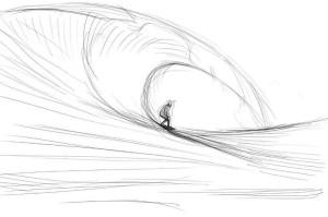 Как-нарисовать-волны-карандашом-поэтапно-3