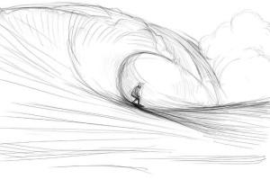 Как-нарисовать-волны-карандашом-поэтапно-4