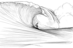 Как-нарисовать-волны-карандашом-поэтапно-5