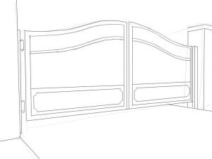 Как-нарисовать-ворота-карандашом-поэтапно-3