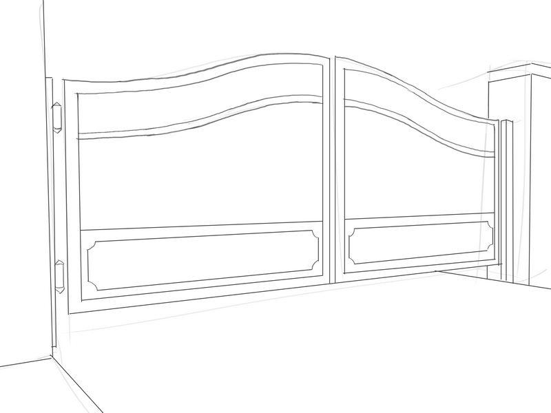 Как нарисовать ворота? | Рисуем поэтапно ворота футбольные