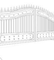 Как нарисовать ворота