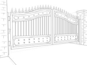 Как-нарисовать-ворота-карандашом-поэтапно-5