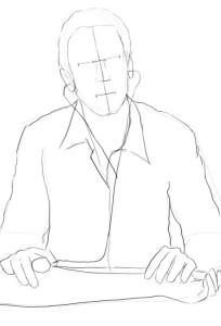 Как-нарисовать-врача-карандашом-поэтапно-2