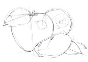 Как-нарисовать-яблоко-карандашом-поэтапно-2
