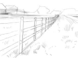 Как-нарисовать-забор-карандашом-поэтапно-2