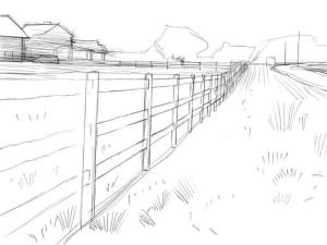 Как-нарисовать-забор-карандашом-поэтапно-3