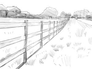 Как-нарисовать-забор-карандашом-поэтапно-4