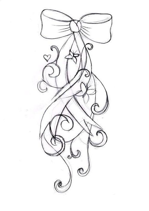Как нарисовать бантик?