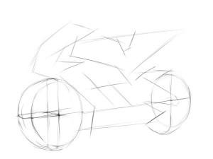 как-нарисовать-мотоцикл-Хонда-карандашом-2