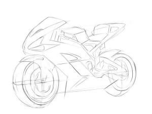 как-нарисовать-мотоцикл-Хонда-карандашом-4