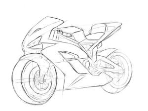 как-нарисовать-мотоцикл-Хонда-карандашом-5