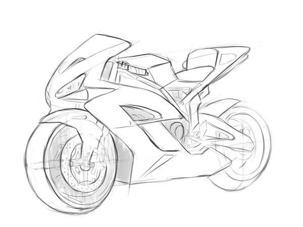 Как нарисовать мотоцикл?