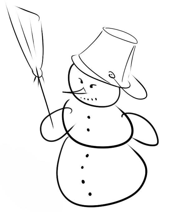 Как нарисовать снеговика?