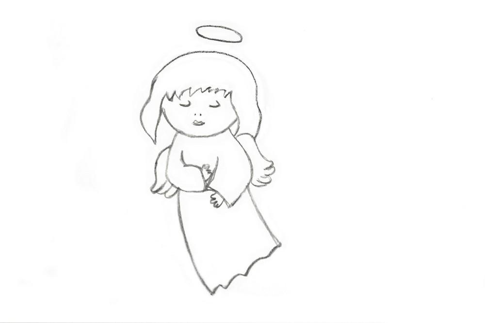 Как нарисовать ангелочка?